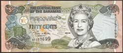 Bahamas 1/2 Dólar Pk 68 (2.001) S/C