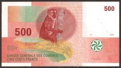Comores 500 Francos PK 15 (2.006) S/C