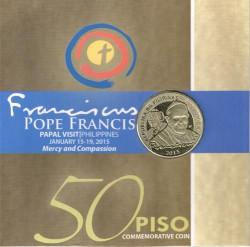 Filipinas 2015 50 Piso en Cartera. Visita del Papa Francisco S/C