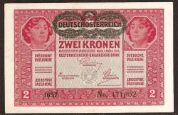 Austria 2 Coronas PK 50 (1-3-1.917) SC