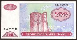 Azerbaiyán 100 Manat Pk 18b (1.993) S/C