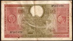 Bélgica 100 Francos Pk 123 (1-2-1.943) MBC