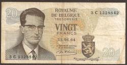 Bélgica 20 Francos PK 138 (15-6-1.964) MBC