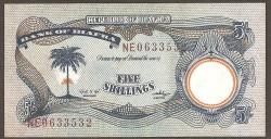 Biafra 5 Shillings PK 3 (1.968-69) EBC-