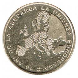Rumanía 2017 50 Bani. 10 años de la adhesión a la UE S/C
