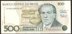Brasil 500 Cruzados PK 212c (1987) S/C