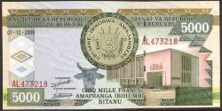 Burundi 5.000 Francos PK 48 (1-12-2.008) S/C