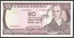 Colombia 100 Pesos de oro PK 426e (1-1-1.991) S/C