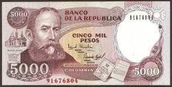Colombia 5.000 Pesos PK 440 (2-1-1.995) S/C