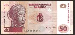 República Dem. del Congo 50 Francos PK 91A (4-1-2.000) S/C