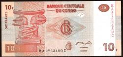 República Dem. del Congo 10 Francos PK 93 (30-06-2.003) S/C