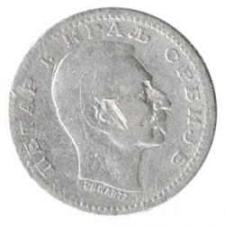 Serbia 1904 50 Para Plata. Pedro I MBC-