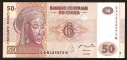 República Dem. del Congo 50 Francos PK 97 (31-7-2.007) S/C