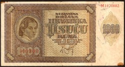 Croacia 1.000 Kuna Pk 4 (1.941) MBC-