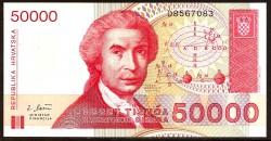 Croacia 50.000 Dinares Pk 26 (30-5-1.993) S/C