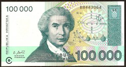 Croacia 100.000 Dinares Pk 27 (1.993) S/C