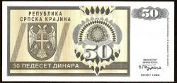Croacia (Krajina) 50 Dinares Pk R2 (1.992) EBC