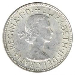 Australia 1957-1958 1 Chelín Plata MBC+