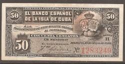 Cuba 50 Centavos PK 46a (15-5-1.896) EBC