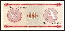 Cuba 10 Pesos PK FX 4 (1.985) S/C