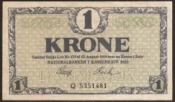 Dinamarca 1 Corona PK 12e (1.920) EBC-