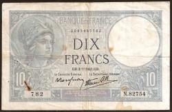 Francia 10 Francos PK 84 (1.939-42) MBC-