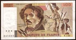 Francia 100 Francos PK 154d (1.988-90) MBC