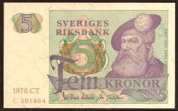 Suecia 5 Coronas PK 51d (1.978) S/C