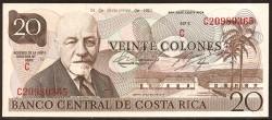 Costa Rica 20 Colones PK 238c (24-12-1.981) S/C-