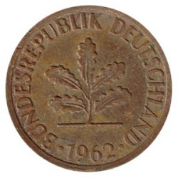 Alemania 1959 - 1962 2 Pfennigs MBC