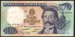 Portugal 100 Escudos Pk 169a (3) (30-11-1.965) MBC
