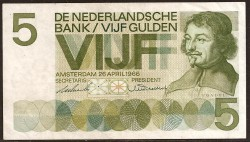 Holanda 5 Gulden PK 90b (26-4-1.966) MBC