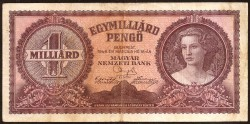 Hungría 1 Millardo Pengö Pk 125 (18-3-1.946) MBC