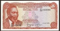 Kenia 5 Shilling PK 15 (1-7-1.978) S/C