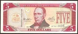 Liberia 5 Dólares PK 21 (1.999) S/C