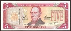 Liberia 5 Dólares PK 26a (2.003) S/C