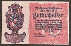 Liechtenstein 10 Heller PK 1 (1.920) S/C