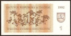 Lituania 1 Talona PK 39 (1992) S/C