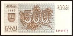 Lituania 500 Talonu PK 46 (1.993) S/C