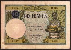 Madagascar 10 Francos PK 36 (1.937) MBC-