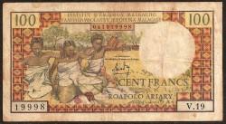 Madagascar 100 Francos / 20 Ariary PK 57 (1.966) MBC-