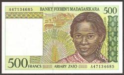 Madagascar 500 Francos / 100 Ariary PK 75 (1.994) S/C