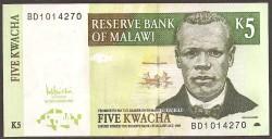 Malawi 5 Kwachas PK 36c (1-12-2.005) S/C
