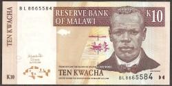 Malawi 10 Kwachas PK 51a (1-6-2.004) S/C