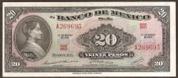 Méjico 20 Pesos PK 54o (18-3-1.970) S/C-