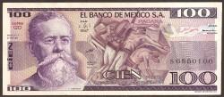 Méjico 100 Pesos PK 74b (27-1-1.981) S/C
