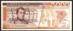 Méjico 5.000 Pesos PK 88b (24-2-1.987) S/C