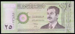 Iraq 25 Dinares PK 86 (2.001) S/C