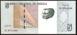 Angola 5 Kwanzas PK Nuevo (Octubre 2.012) S/C