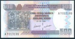 Burundi 500 Francos PK 45 (1-5-2.009) S/C